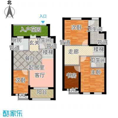 新宏香榭丽舍105.00㎡新宏・香榭丽舍B(B-2)户型