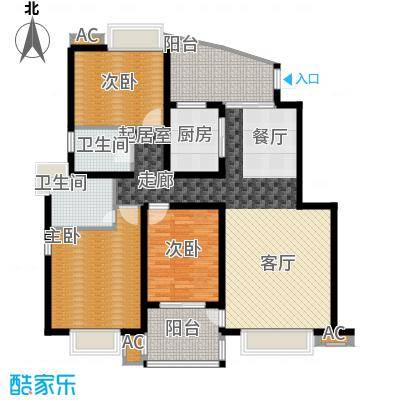 丽湖名居新时代广场128.15㎡普通面积12815m户型