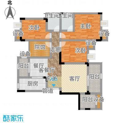 鲁能领秀城101.05㎡二期2、4、7、8、11、12、18号楼标准层E5户型