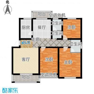 金宸花园127.00㎡普通住宅面积12700m户型