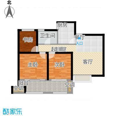 农房澜山90.00㎡高层公寓B3户型