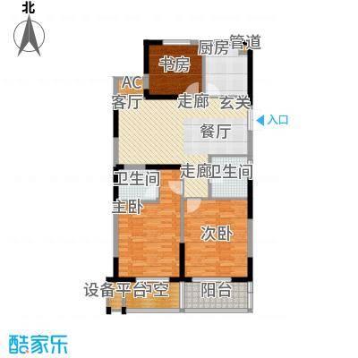 佳源广场110.63㎡HX-方-6#7#户型