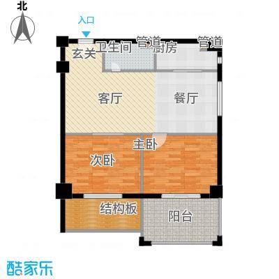 黄岩书香园102.80㎡户型