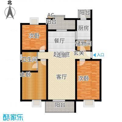 京源柳郡154.66㎡型2面积15466m户型