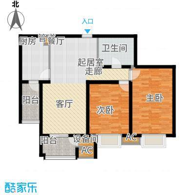 京源柳郡97.07㎡型1面积9707m户型