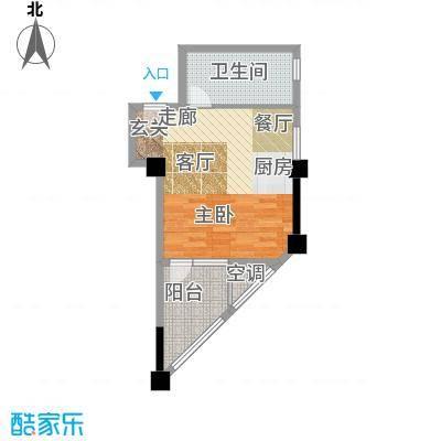 景鸿铭城44.34㎡户型