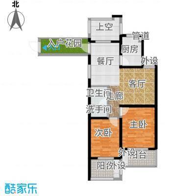 翰林世家93.00㎡高层1号楼D3偶数层户型