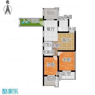 翰林世家93.00㎡高层1号楼D3奇数层户型