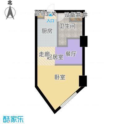 中惠卡丽兰45.00㎡微寓1户型