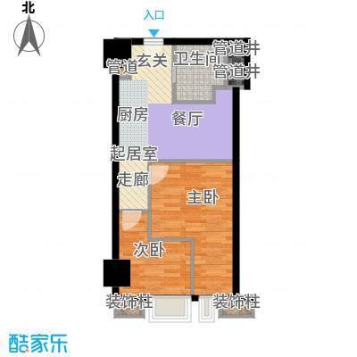 绍兴颐高广场55.00㎡I户型