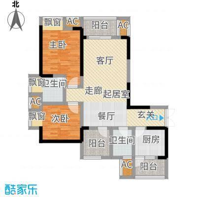 金融街融景城75.98㎡1期53号楼标准层B1户型