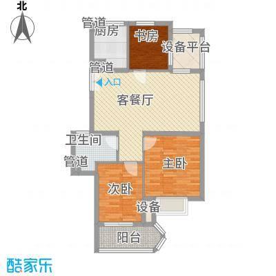 金色家园88.00㎡5号楼11号楼奇数面积8800m户型