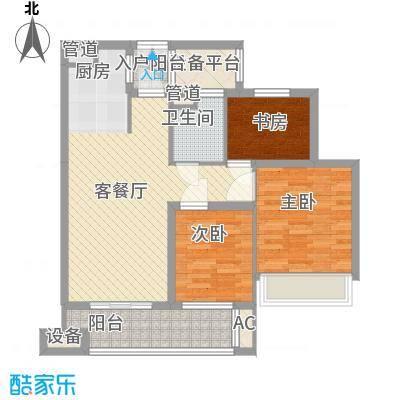 金色家园88.00㎡5号楼11号楼偶数面积8800m户型