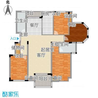 瓜渚绿洲163.06㎡东边套户型