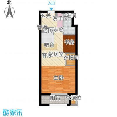 香水湾55.00㎡单身公寓户型