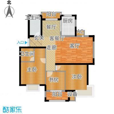 中宇若耶明珠127.00㎡L户型