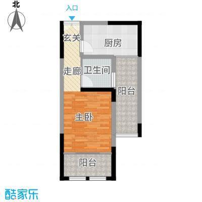 坂湖明珠48.00㎡D户型