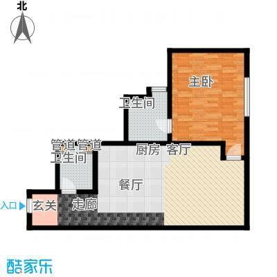 龙禧中心82.77㎡B户型