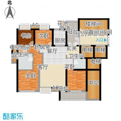 香滨半岛165.78㎡5号楼奇数层户型