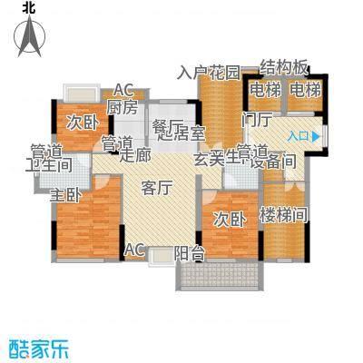香滨半岛140.21㎡3号楼偶数层和2、4号楼奇数层户型