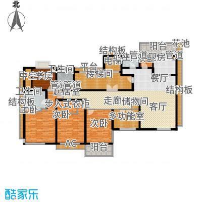 香滨半岛241.80㎡1号楼偶数层户型