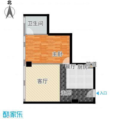 龙禧中心67.13㎡E户型