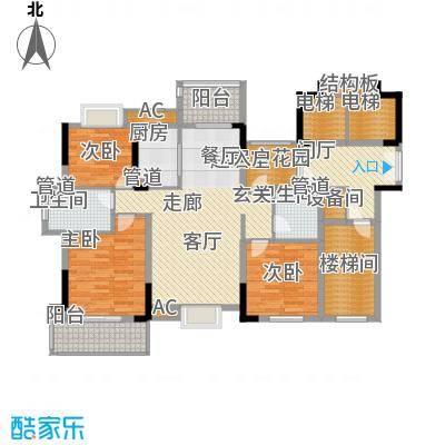 香滨半岛140.28㎡3号楼奇数层和2、4号楼偶数层户型