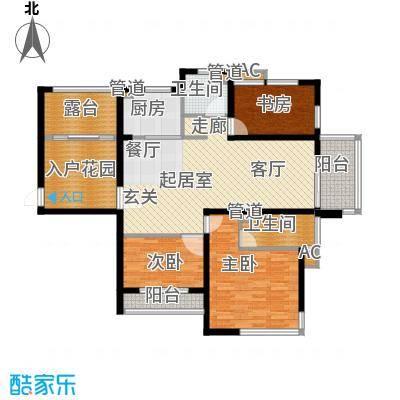 丽景华庭124.72㎡6户型