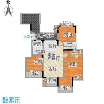 斌鑫中央国际公园118.58㎡B区B1/B2号楼标准层B3户型