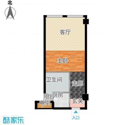 龙禧中心55.08㎡A户型