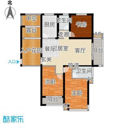 丽景华庭131.89㎡7户型