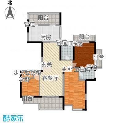 山水名家157.00㎡璞园1号楼奇数层东边套户型