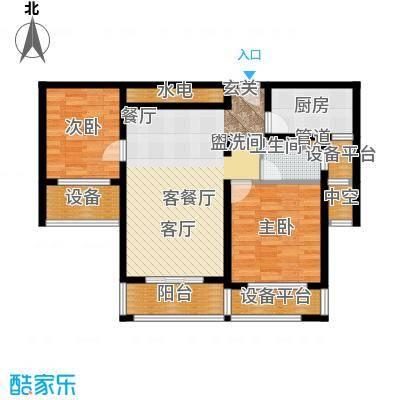 凯瑞米兰公馆89.00㎡3#、5#楼奇数层B2户型