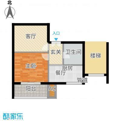 天谛公寓59.00㎡面积5900m户型
