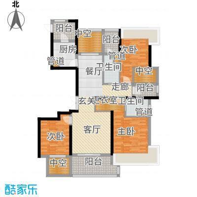永利中央公馆139.02㎡8号楼D户型