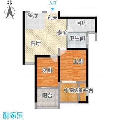 永利中央公馆91.47㎡6号楼B户型