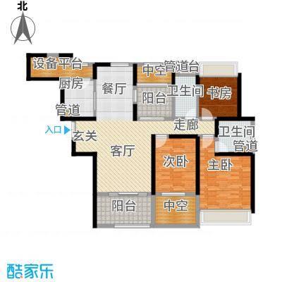 永利中央公馆141.61㎡6号楼E户型