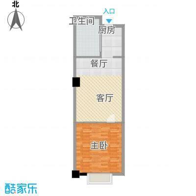 镜湖星城大厦76.00㎡标准层户型