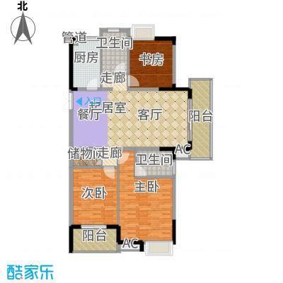 润泽大院142.00㎡中庆二期-C1户型