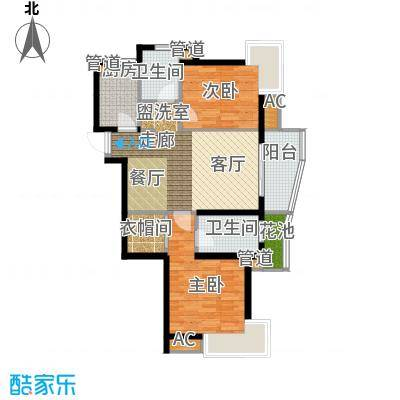 卧龙天香华庭97.40㎡13#楼E1户型