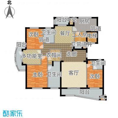 卧龙天香华庭230.00㎡A1户型