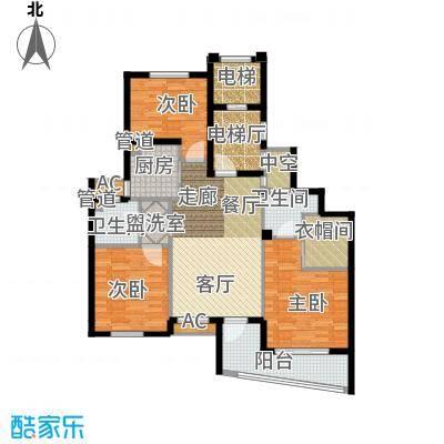 卧龙天香华庭125.70㎡13#楼E4户型
