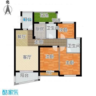 卧龙天香华庭131.20㎡15、16#楼P户型