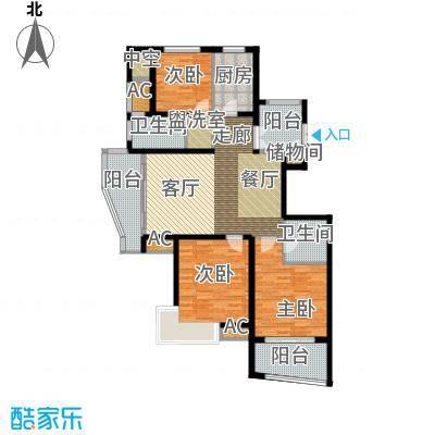 卧龙天香华庭136.80㎡13#楼D户型