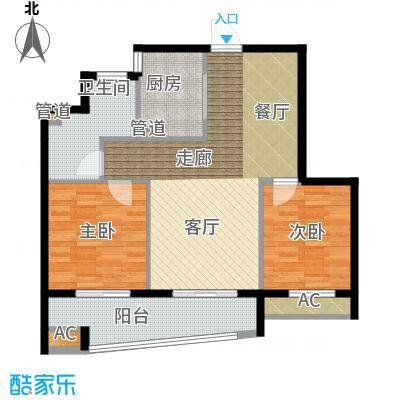 卧龙天香华庭93.40㎡13#楼E2户型