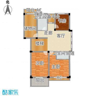 红叶枫情水岸D四层平面图户型
