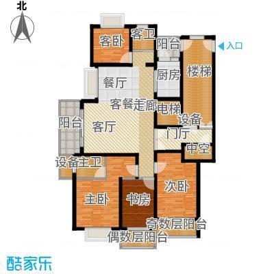 宝业大坂风情167.00㎡13#楼B2户型