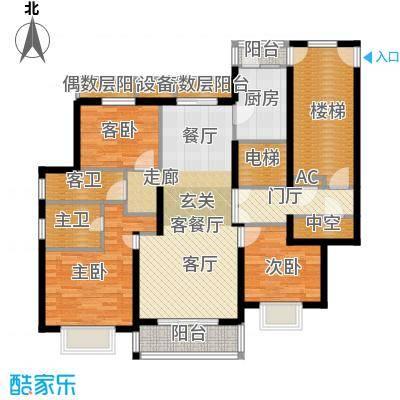 宝业大坂风情143.00㎡8号楼A1型户型
