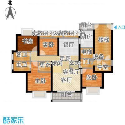 宝业大坂风情171.00㎡15号楼B1户型