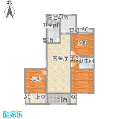 清江嘉园141.78㎡1#2#楼B户型